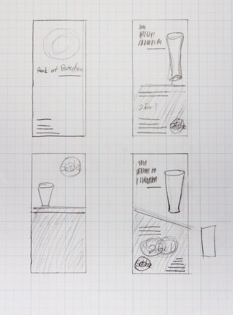 sketches for brewery ad