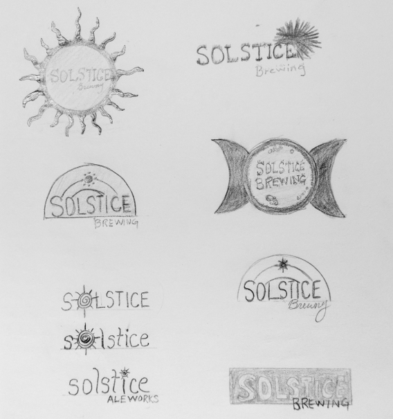 Sketches for logo
