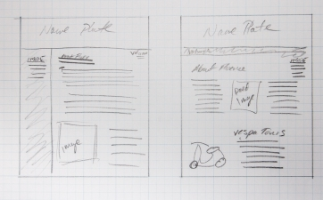 sketch of newsletter