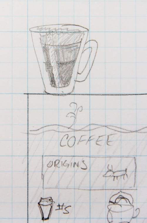 sketch of coffee mug
