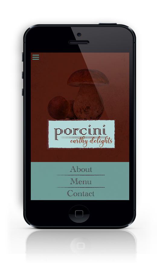 Porcini site on iPhone