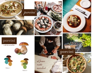 Moodboard for Porcini website